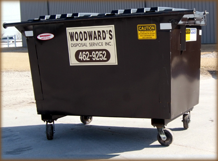 "2 Yard L 64 3/4"" x D 43"" x H 49"" 440 Gallon Capacity"